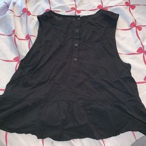 Forever 21 Black Tank With back buttons